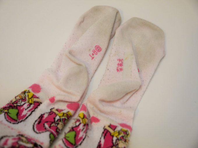 靴下の汚れ