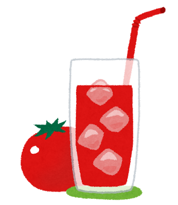 トマトジュースのしみ抜き