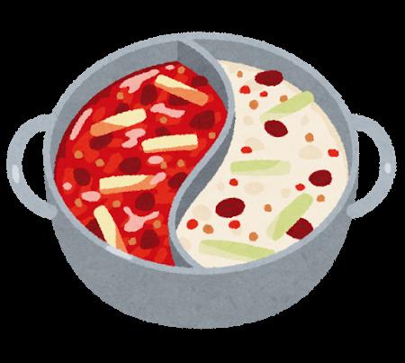 キムチ鍋のシミ