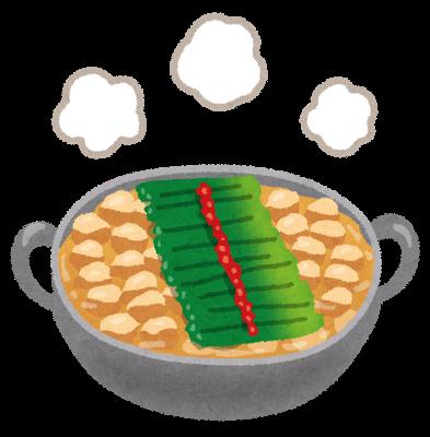 もつ鍋のシミ