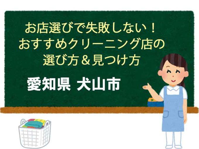 おすすすめ宅配クリーニング 愛知県犬山市