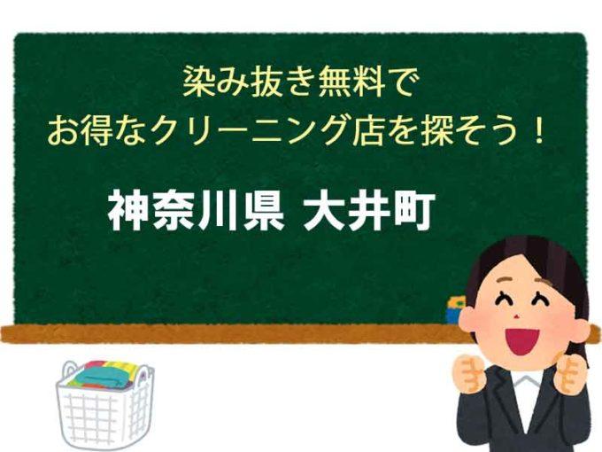神奈川県大井町、宅配クリーニング