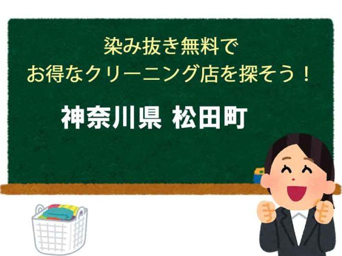 神奈川県松田町、宅配クリーニング