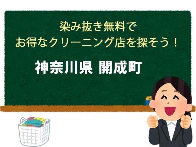 神奈川県開成町、宅配クリーニング